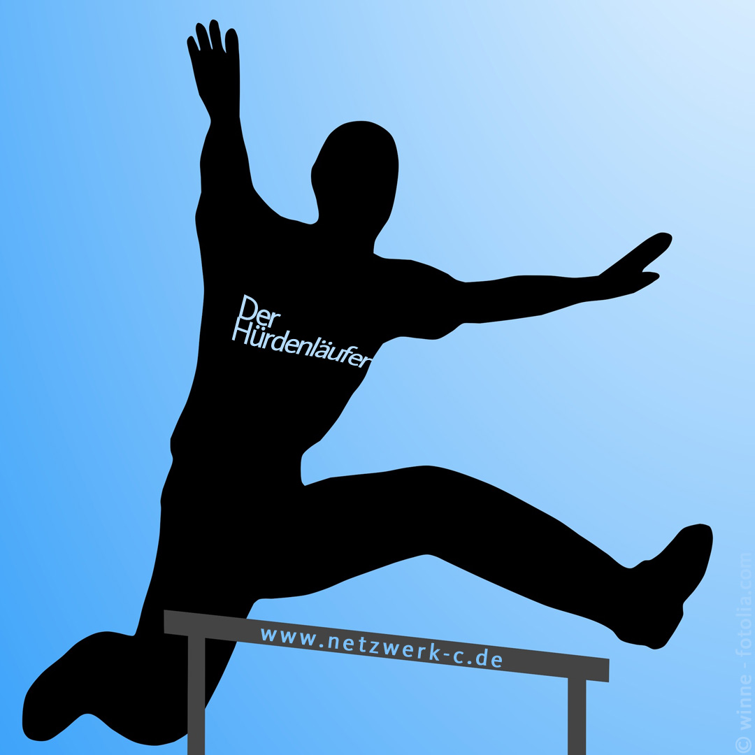Hürdenläufer mit fotolia